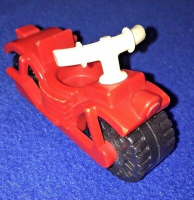 Vintage Little People Red Motorcycle FPT457 #992 Play Family Car & Pop-Up Camper