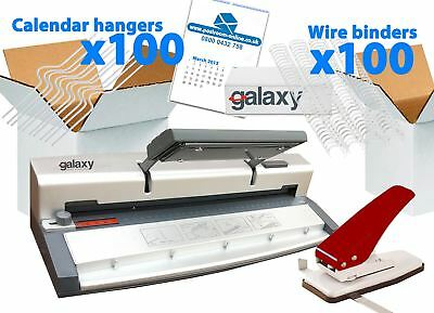 Galaxy G60 Home Office A4 Wire Binding Calendar Making Kit Pack with Accessories