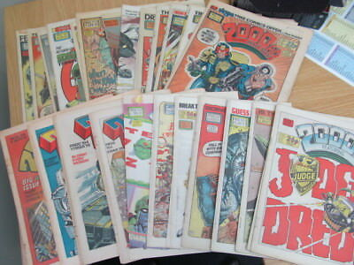 Job Lot Bundle Vintage 2000 A.D. and Starlord Comics from the 70s/80s
