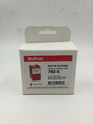 NuPost Ink Cartridge For Use In Pitney Bowes - Fluorescent Red (793-5) *New*