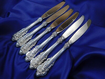 *1* Wallace Grande Baroque Sterling Silver Place Knife - Excellent Condition
