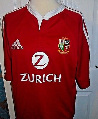 Vintage BRITISH LIONS Red Rugby Union Shirt Jersey Top 2004 Size Large