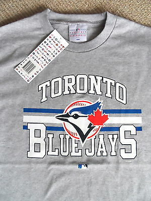 MEDIUM BLUE JAYS OFFICIAL MLB Baseball T Shirt NEW Strong Cotton Toronto Canada