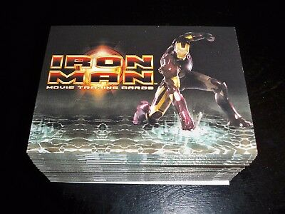 2008 Iron Man Movie Complete Base Set of 70 Cards Rittenhouse Archives