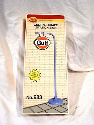 "Model Power LGB G-Scale Gulf ""L"" shape Station Sign NIB"