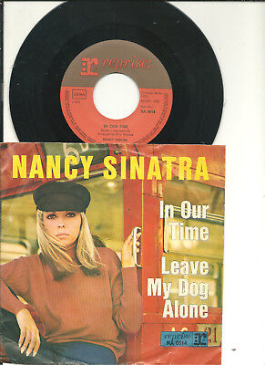 """7""""___NANCY SINATRA___In our time / Leave my dog alone___( D / 1966 / PS )"""