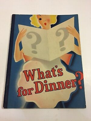 "Vintage Kahns Meats ""Whats For Dinner"" Recipe Cook Book Promotional Advertising"