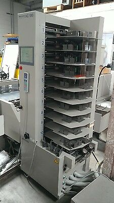HORIZON VAC 100-A BOOKLET MAKER COLLATOR air feed, stitcher, folder, trimmer
