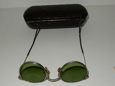 Vintage American Optical Ao 23 Ful-Vue Tinted Green Safety Glasses Goggles