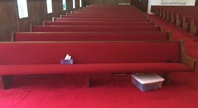 pews red church benches 13 feet good used condition wedding sanctuary worship