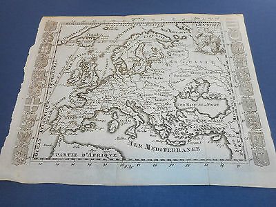 100% Original Europe Map By Colom C1706  Vgc