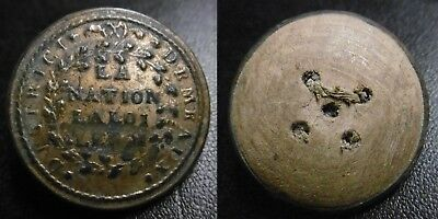 BOUTON GARDE NATIONALE - 1789 1790 DISTRICT DE MEAUX - 27,5 mm