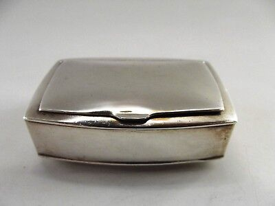 Small Silver Box With Hinged Lid Birmingham 1969 Ref 130/3