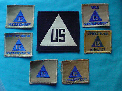 Wwii Us Civilian Technician War Job Patches And Insignia Patch Group