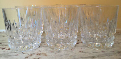 Tuilleries Villandry by CRISTAL D'ARQUES-DURAND lot of 6 Old Fashioned Glasses