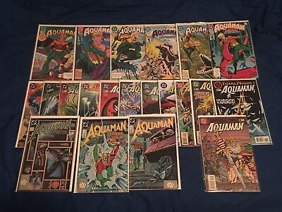 AQUAMAN Huge 21 Issue Lot from 1989, 1991, & 1994 Series! Great Readers Copies!