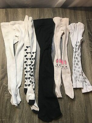Lot of Five Girls Tights Trget Brands Sizes 4-6 and one 2-4