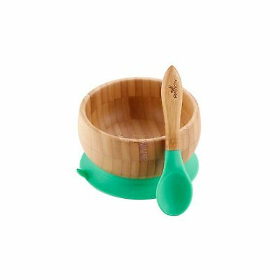 Green Avanchy Bamboo Suction Baby Bowl + Spoon 2018