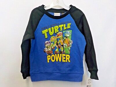 Boys Size 4T Teenage Mutant Ninja Turtles Black/blue Longsleeve Top Nwt #5952