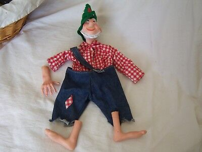 HILLBILLY WILLY MOUNTAIN DEW DOLL PARTS PIECES Clothes Plaid Shirt Overalls