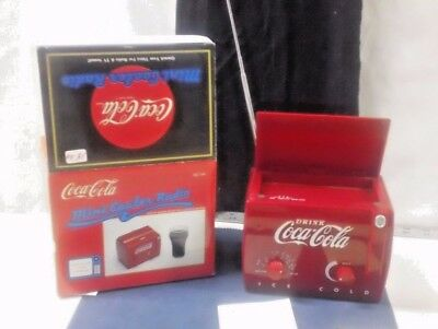 VTG Coca Cola Mini Cooler Radio Am/Fm w/TV-1,2 Bands Sound MC194 Music Soda Red