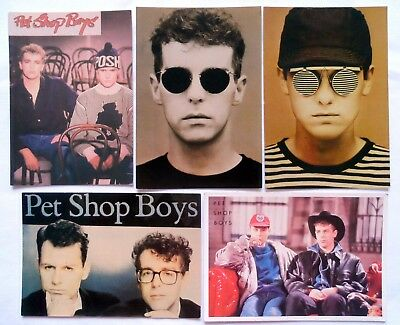 PET SHOP BOYS POSTCARDS 5 x Vintage Pet Shop Boys Postcards * Pop * PSB *