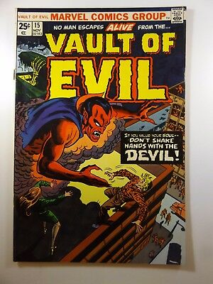 """Vault of Evil #15 """"Don't Shake Hands With The Devil!"""" Fine- Condition!!"""