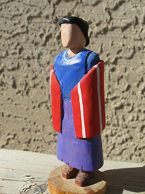 "Navajo Folk Art Traditional Woman ""Waiting"" signed  T. Yazzie"