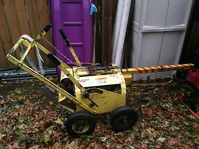 George Evans Pow-R-Spade Trencher  Walk Behind Trench Digger Excavator