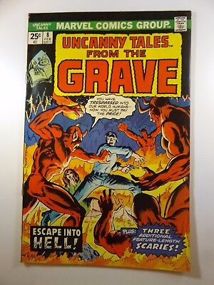 """Uncanny Tales from the Grave #8  """"Escape into Hell!"""" VF Gorgeous Book! HTF!!"""