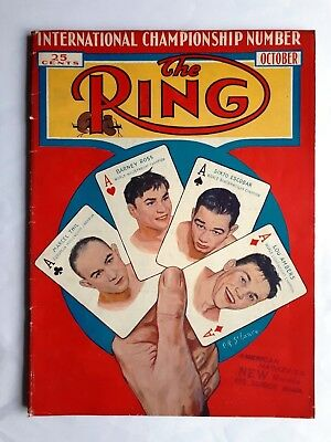 The Ring Boxing Magazine USA October 1937 Tommy Farr Henry Armstrong Wrestling