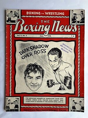 The Boxing News Magazine USA June 1938 Hank Armstrong Barney Ross Solly Kreiger