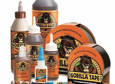 Genuine Gorilla Super Glue & Gel Multi-Purpose Brush Nozzle Wood Epoxy Adhesive