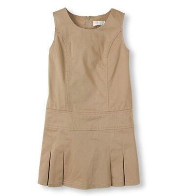 New With Tag Children Place Girl School uniform jumper Dress SESAME Khaki Size 6