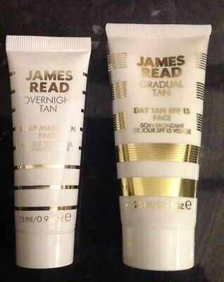 New James Read Overnight Tan Sleep Mask Tan Face Gradual Tan Day Face 25ml X 2