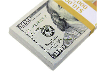 NEW Novelty Paper Play Prop Money Only Realistic Buy Direct From US Now Lot of 5