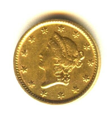 1854 $1 Gold Type 1 AU In Grade Early Gold Type Coin
