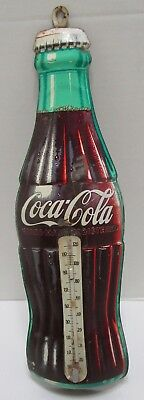 Vintage Robertson Tin 17 Inch Coca Cola Thermometer ***made In The Usa***