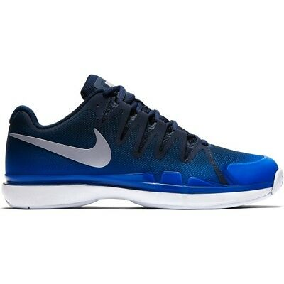 Nike Zoom Vapor 9.5 Tour Navy/Silver Men's Tennis Shoes (Roger Federer)