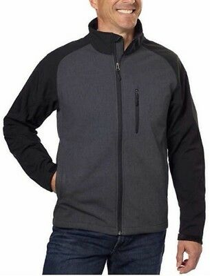NEW-Kirkland Men Soft shell Jacket Wind and Waterproof Breathable, Size: large