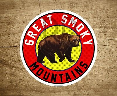 """Great Smoky Mountains National Park Tennessee MOUNTAIN Sticker Decal 3"""" x 3"""""""
