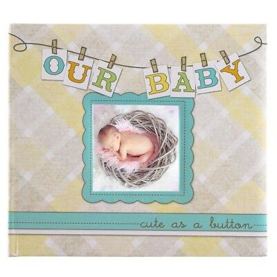 """Our Baby"" Hardcover Personalized Photo Album & Memory Book Infant Boys Or Girls"