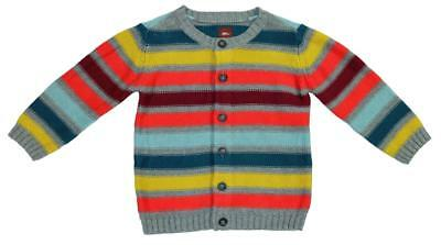 TEA Collection Boys Striped Cardigan Sweater Button Down ~ Size 18-24mo EEUC ng
