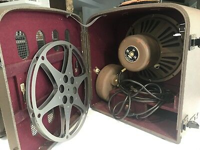 BELL & HOWELL 16mm 179 sound-on-film Projector with Amplifier VINTAGE -Model H