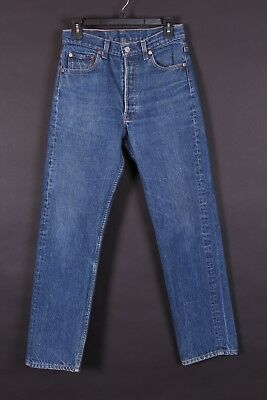Vtg Levis 501 Buttonfly Denim Mom Boyfriend Jeans Usa Size 28X30