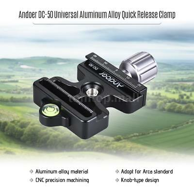 Durable Quick Release Clamp Adapter for Arca Swiss Manfrotto Tripod Plate Q6A8
