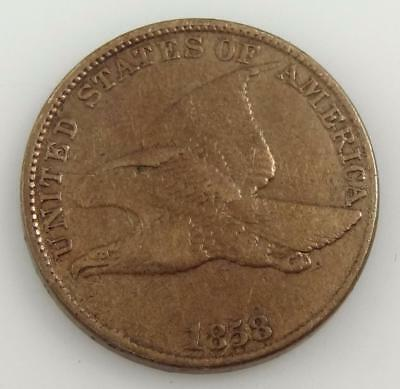 1858 Flying Eagle One 1¢ Cent Penny Coin * S