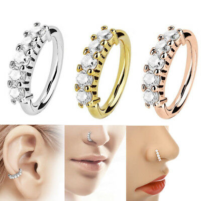 Fashion 1pc Nose Ring Ear Hoop Tragus Helix Stainless Steel Cartilage Earring