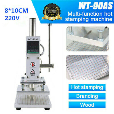 8*10CM Manual Hot Foil Stamping Machine Leather PVC Card Embossing Bronzing 220V