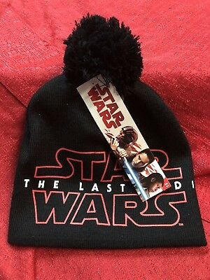 Disney Star Wars Last Jedi Beanie Cap Hat New Officially Licensed